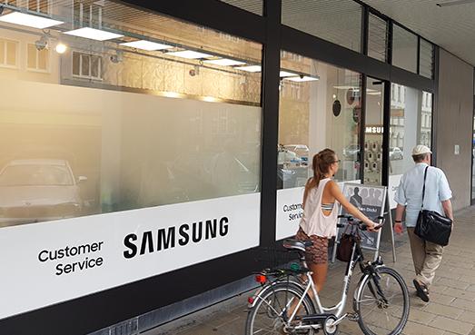 SAMSUNG Customer Service Plaza München außen Aufnahme